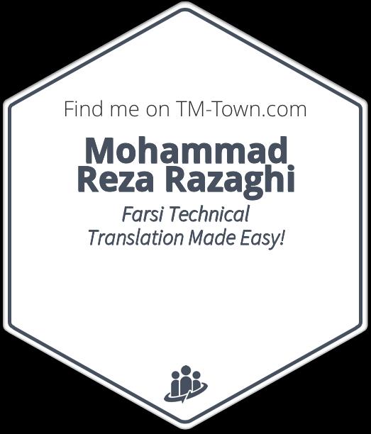 Mohammad Reza Razaghi TM-Town Profile