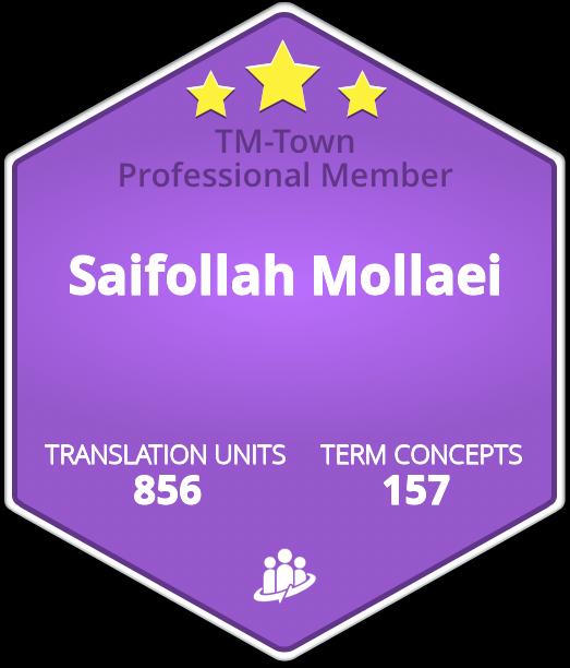 Saifollah Mollaei TM-Town Profile