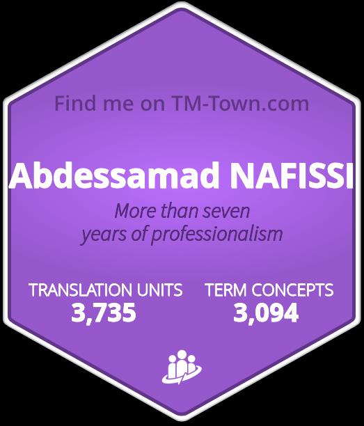 Abdessamad NAFISSI TM-Town Profile