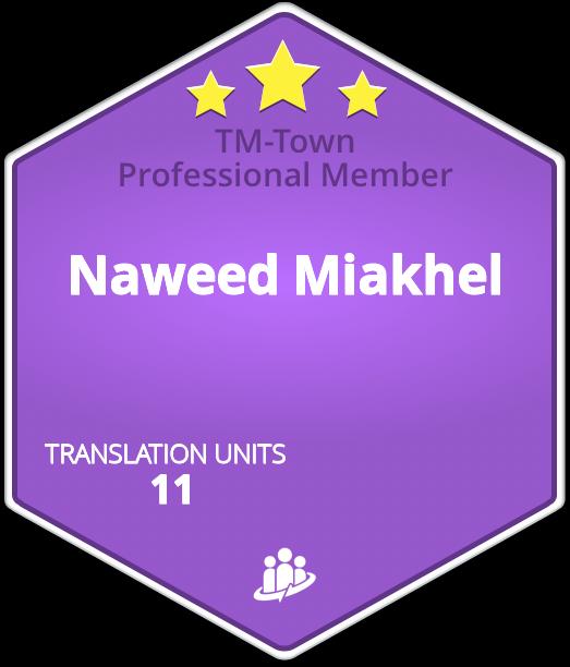 Naweed Miakhel TM-Town Profile