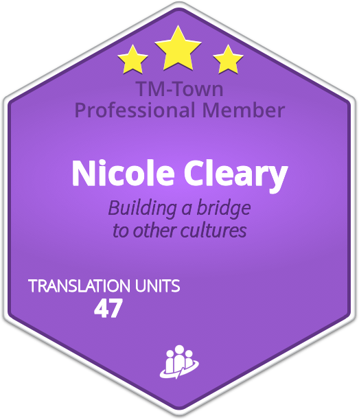 Nicole Cleary TM-Town Profile