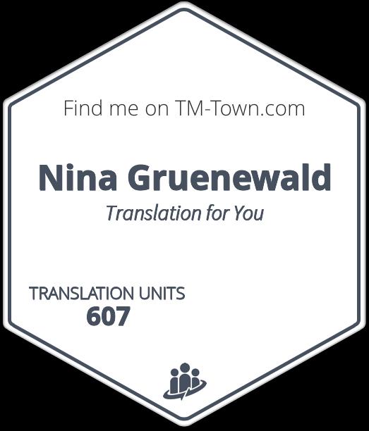 Nina Gruenewald TM-Town Profile