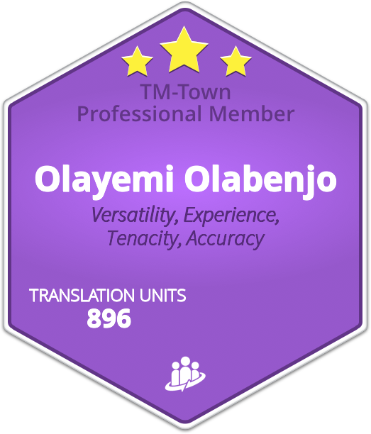 Olayemi Olabenjo TM-Town Profile