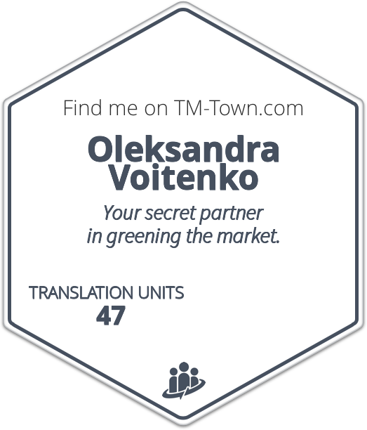 Oleksandra Voitenko TM-Town Profile