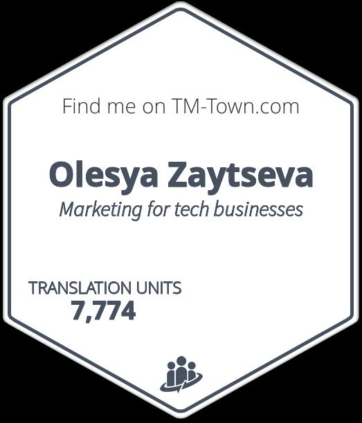 Olesya Zaytseva TM-Town Profile