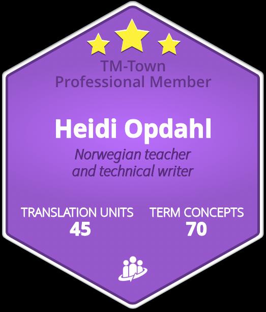 Heidi Opdahl TM-Town Profile