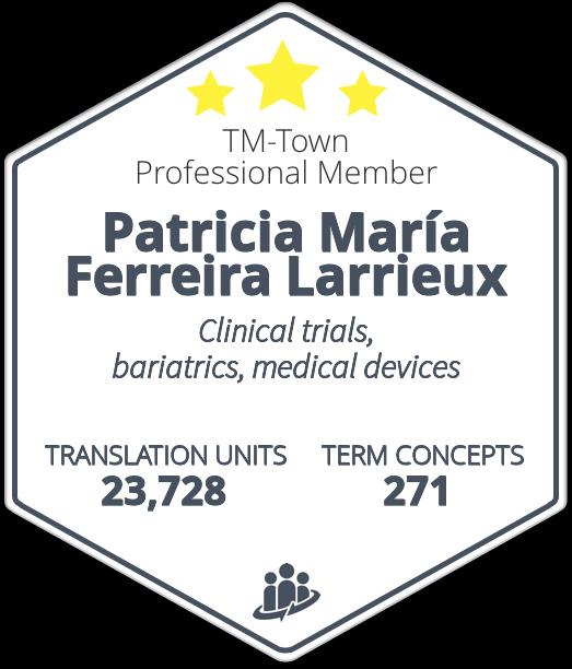 Patricia María Ferreira Larrieux TM-Town Profile