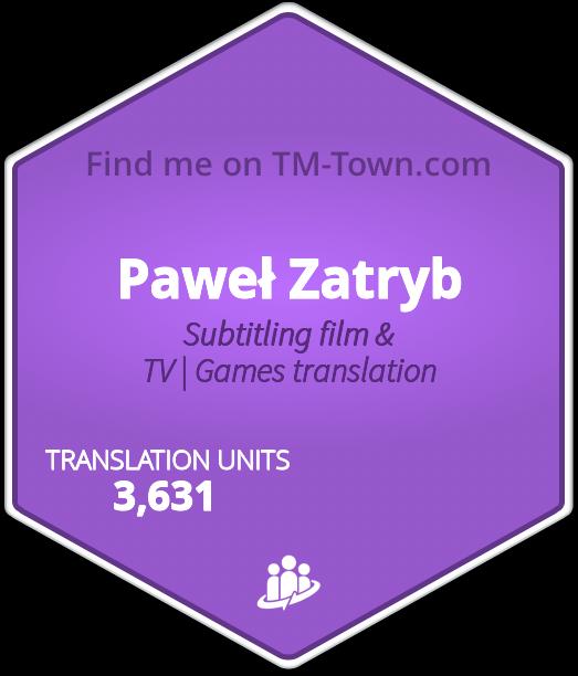 Paweł Zatryb TM-Town Profile