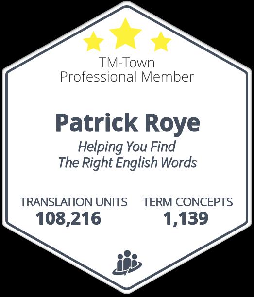 Patrick Roye TM-Town Profile