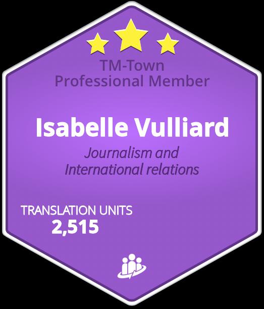 Isabelle Vulliard TM-Town Profile
