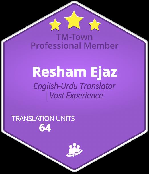 Resham Ejaz TM-Town Profile