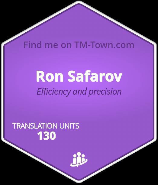 Ron Safarov TM-Town Profile