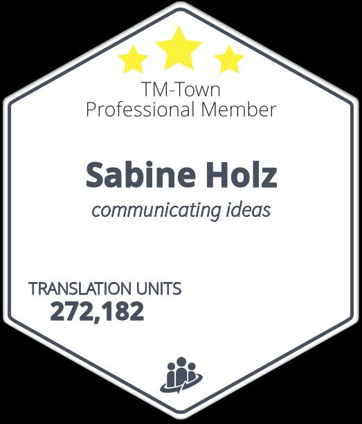 Sabine Holz TM-Town Profile