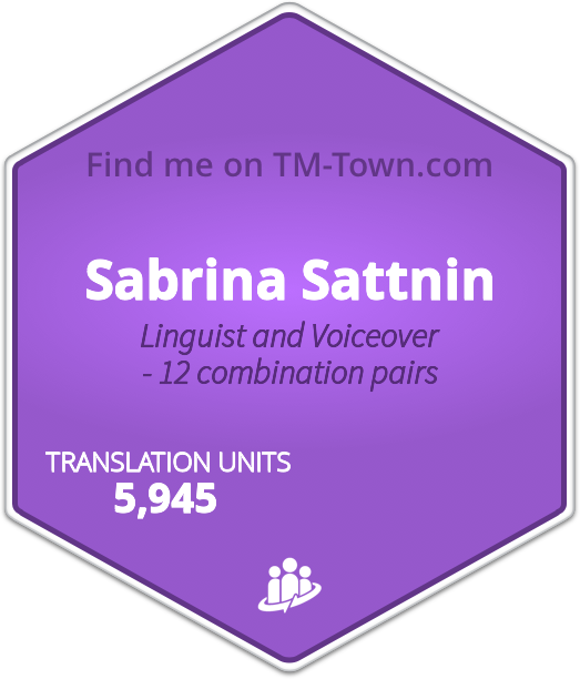 Sabrina Sattnin TM-Town Profile