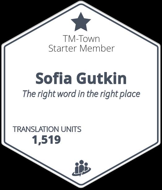 Sofia Gutkin TM-Town Profile