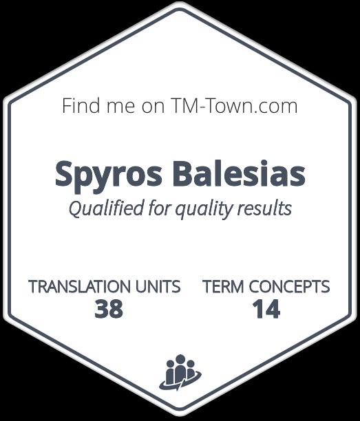 Spyros Balesias TM-Town Profile