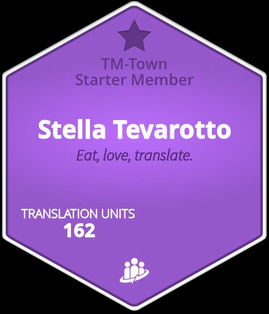 Stella Tevarotto TM-Town Profile