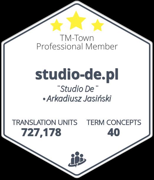 Arkadiusz Jasinski • TM-Town Profile