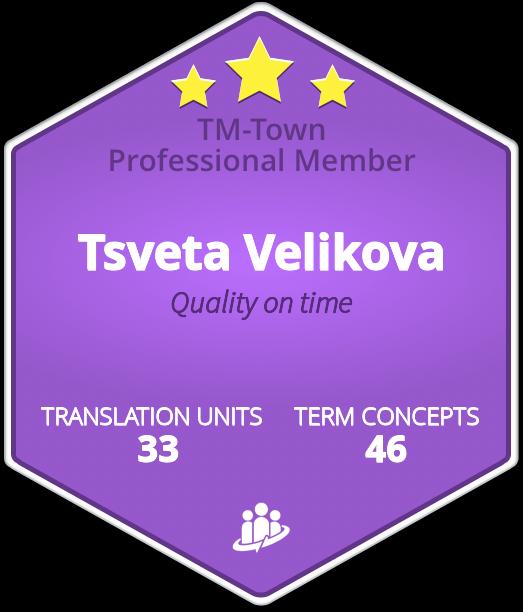Tsveta Velikova TM-Town Profile