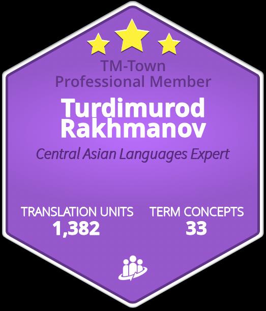 Turdimurod Rakhmanov TM-Town Profile