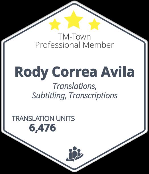 Rodolfo Correa Avila TM-Town Profile