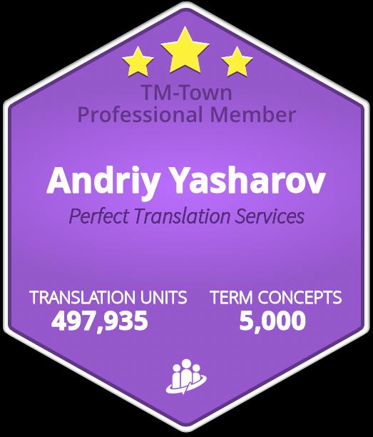 Andriy Yasharov TM-Town Profile