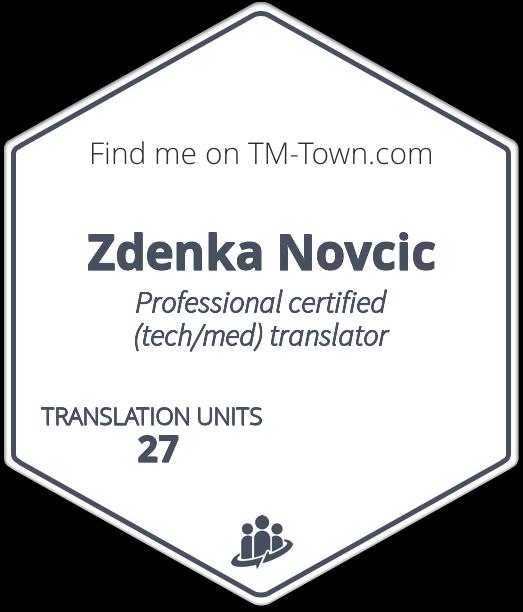 Zdenka Novcic TM-Town Profile