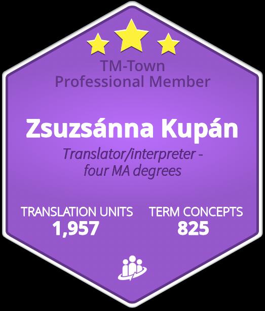 Zsuzsánna Kupán TM-Town Profile
