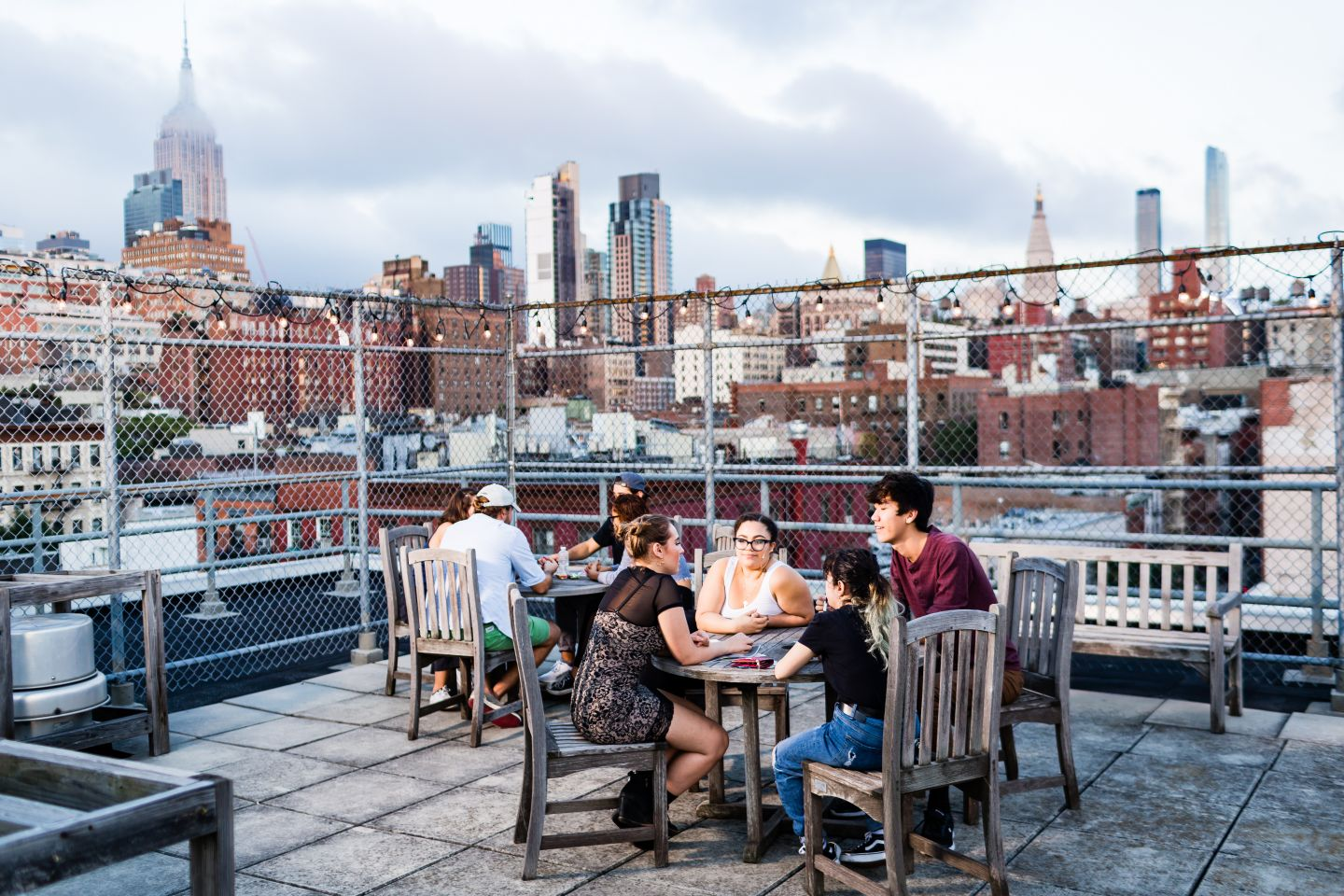 Student Life - University Resources Living at NS People Table Rooftop