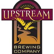 This is the restaurant logo for Upstream Brewing Company