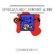 This is the restaurant logo for Ophelia's Restaurant & Inn
