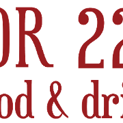 This is the restaurant logo for Door 222 Food & Drink