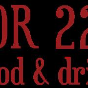 This is the restaurant logo for Door 222 Food & Drink