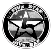 This is the restaurant logo for Five Star Dive Bar