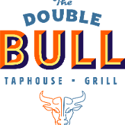 This is the restaurant logo for Double Bull Taphouse & Grill