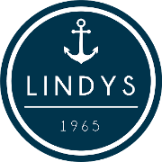 This is the restaurant logo for Lindy's Restaurant, Banquets, Beach Club & Marina