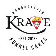 This is the restaurant logo for Krave Funnel Cones LLC