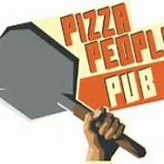This is the restaurant logo for Pizza People Pub