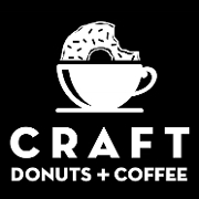 This is the restaurant logo for CRAFT Donuts + Coffee with Tempo Taco
