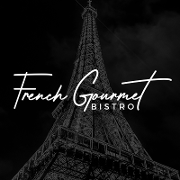 This is the restaurant logo for French Gourmet Bistro