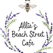 This is the restaurant logo for Allie's Beach Street Cafe