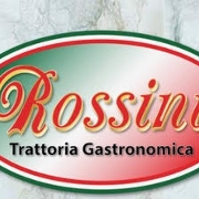This is the restaurant logo for Rossini Trattoria Gastronomica