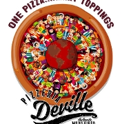 This is the restaurant logo for Pizzeria DeVille