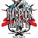 This is the restaurant logo for Harpoon Larry's Fish House & Oyster Bar