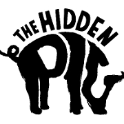 This is the restaurant logo for The Hidden Pig
