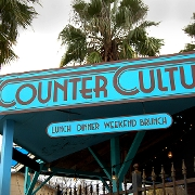 This is the restaurant logo for Counter Culture Restaurant