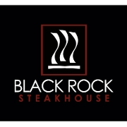 This is the restaurant logo for Black Rock Steakhouse