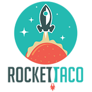 This is the restaurant logo for Rocket Taco