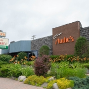 This is the restaurant logo for Audie's Restaurant