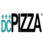 This is the restaurant logo for DC Pizza